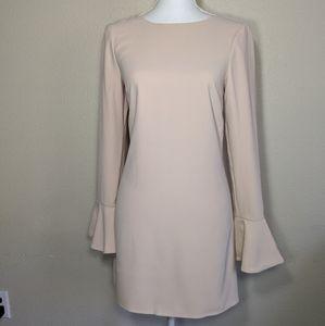 Marciano Sheeta Mini Dress V Back Suede Cream XS